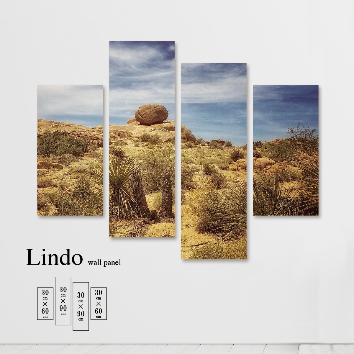 ファブリックパネル 風景 景色 写真 自然 環境 空 雲 壁掛け 北欧 お洒落 デザイン アート 壁飾り アートボード 4枚パネル