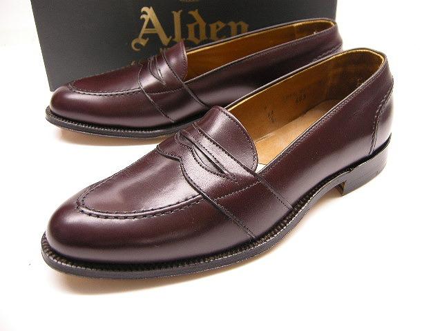 【Alden/オールデン/#683ローファーシューズ/フルストラップ/スリップオン Full Strap Slip-On Calfskin】【メンズ/男性用】【サイズUS 9B(26-26.5cm)】【ダークバーガンディー/カーフレザー】