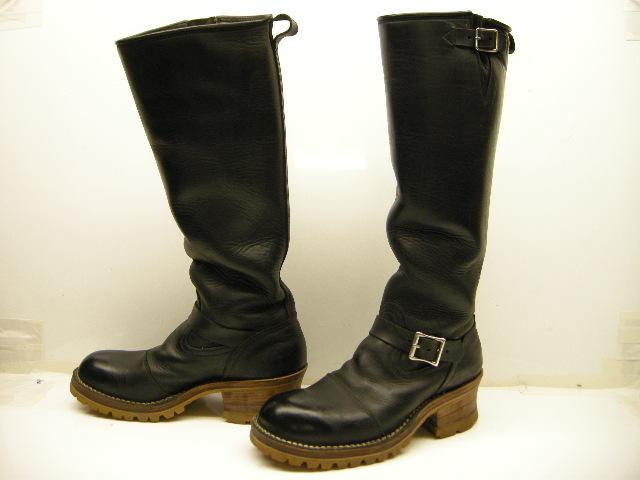【中古/USED】【NICK'S BOOTS/ニックスブーツ/カスタムエンジニアブーツ/ENGEER BOOTS】【メンズ】【サイズUS 11E(29cm)】【ブラック/黒/ダブルミッドソール/キャップトゥー/スチールトゥー/ヒール6枚/ホワイツ/WHITE'S】