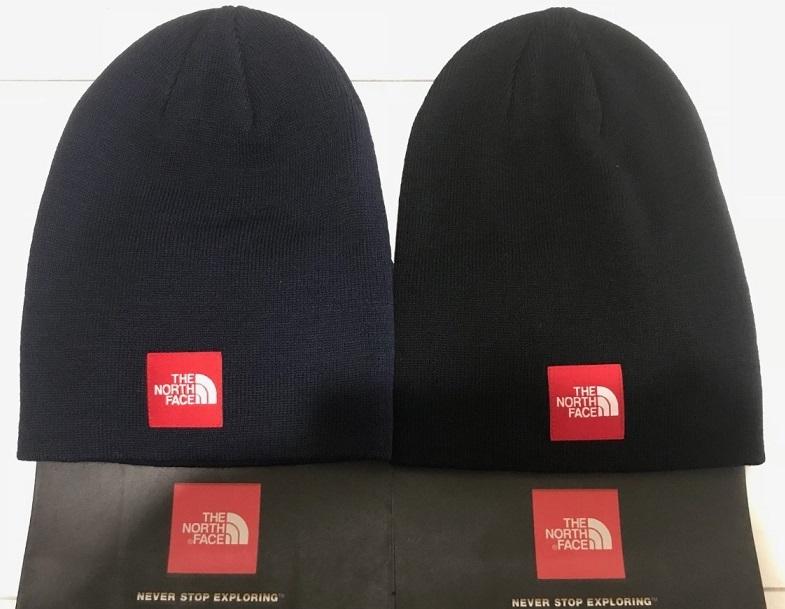 【送料無料】【ノースフェイス/THE NORTH FACE/ボックスロゴ ニットキャップ】【ブラック/ネイビー】【サイズFREE/ユニセックス/メンズ/レディース】【ビーニー/ニット帽/帽子/CAP/BOX LOGO】