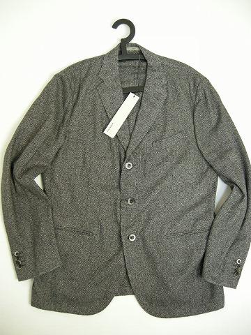 【BOGLIOLI(ボリオリ)ウール混テーラードジャケット3ボタンJKT】【サイズ56(メンズXXL-XXXL)】【グレー系】【ブレザー/チェスターコート/スーツ】