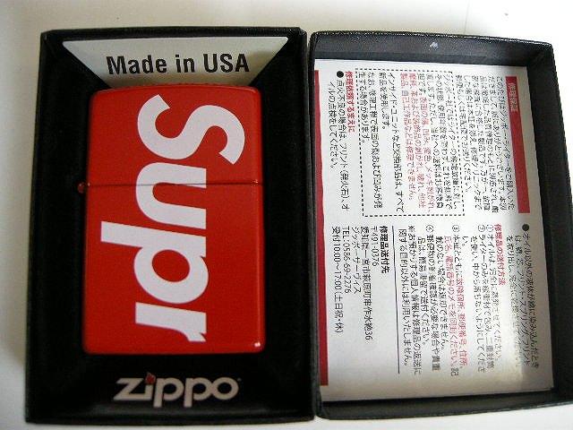 【2018SS Supreme ロゴ Zippo/シュプリーム/Logo Zippo【2018SS ロゴ ジッポ/ジッポー/ライター】【18SS/春夏/S/S/レッド/RED/赤/BOX LOGO/ボックスロゴ】, RING JACKET MEISTER:b2a537cb --- officewill.xsrv.jp