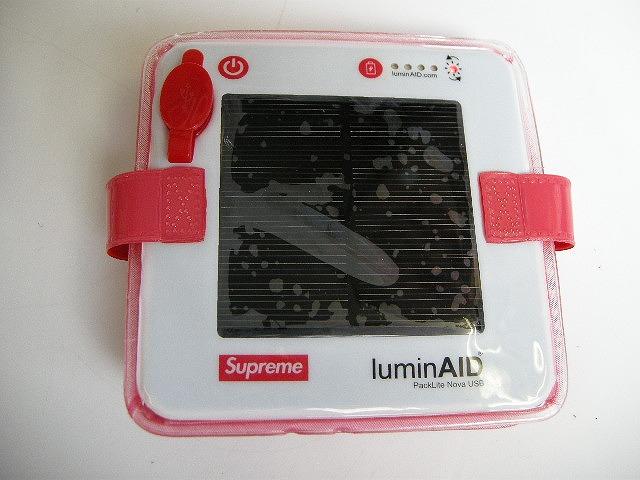 【2018SS Supreme/シュプリーム/LuminAID Packlite Nova USB/LED Lantern/ランタン/ランプ/折りたたみ充電式LEDライト/折り畳み】【18SS/春夏/S/S/レッド/RED/赤/BOX LOGO/ボックスロゴ】