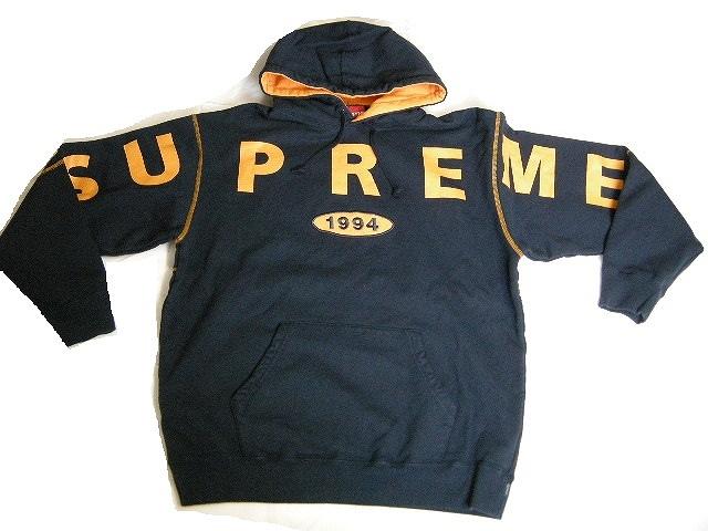 2019AW/Supreme/シュプリーム/Spread Logo Hooded Sweatshirt/スウェットパーカー/スエットプルーバー/19FW/19AW/2019FW/秋冬/ネイビー/NAVY/サイズM/メンズ