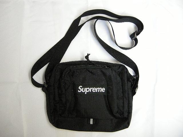 2019SS Supreme シュプリーム shoulder bag ショルダーバッグ WEB限定 ポーチ BAG 春夏 サコッシュ レディース 黒 高級 メンズ ブラック 19SS