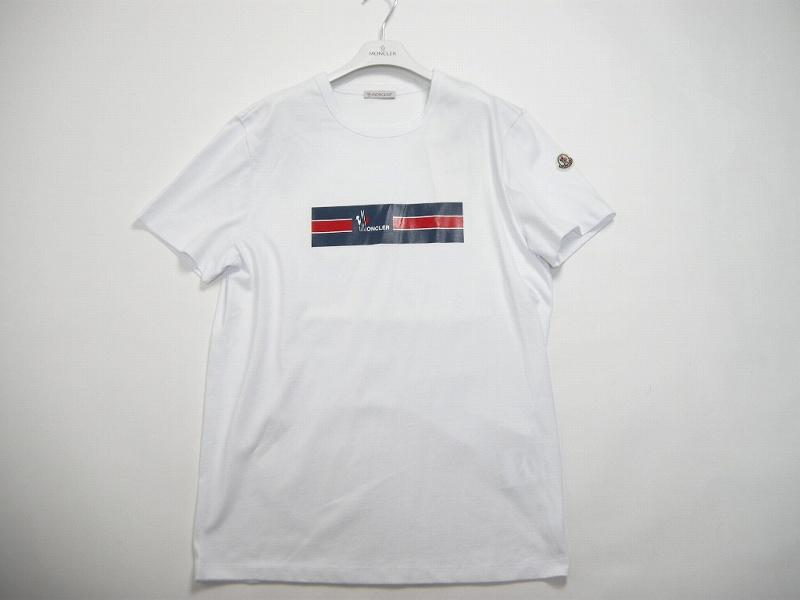 【送料無料】【MONCLER/モンクレール/BOXロゴTシャツ/TEE/半袖/ポケT】【メンズ/2019SS/春夏/001/ホワイト/白】【サイズS/L/XL】【80371-50-8390T】