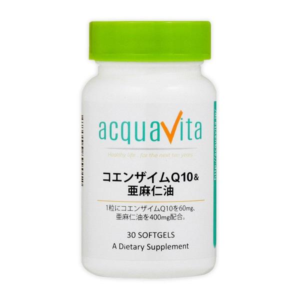 [aquavita(アクアヴィータ) コエンザイムQ10(60)&亜麻仁油 (24個セット)]【winter_sp_d】