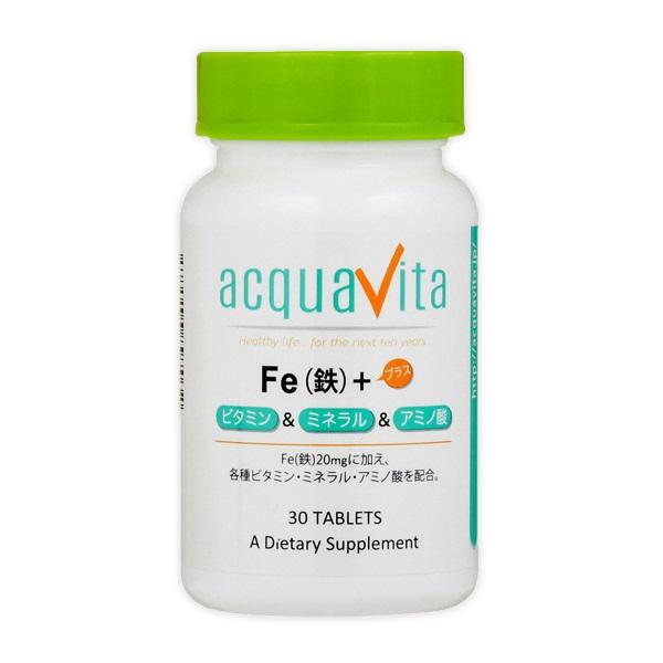 [aquavita(アクアヴィータ) Fa(鉄)+ビタミン・ミネラル・アミノ酸 (24個セット)][宅配便対応]