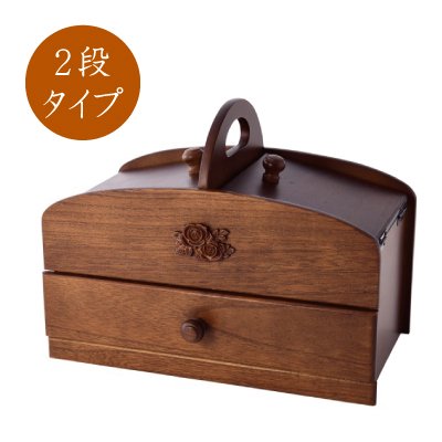 Two Steps Of Domestic Wooden Sewing Boxes Drawer Handle Antique With The Sewing Box Sewing Wooden Box Basket Accessory Case Drawer Drawer Wooden