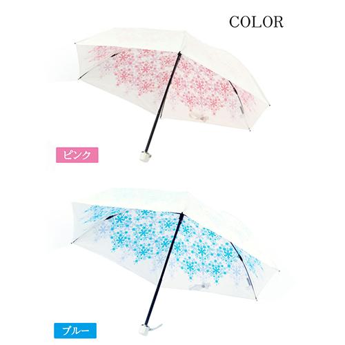 折り畳み傘 軽量 持ち運び便利 強い日差しから守る UVカット99%以上 UVION 付与 プレミアムホワイト50ミニ クリスタル 軽量150g ブルー 日本製 セール価格 カラー:ピンク 晴雨兼用