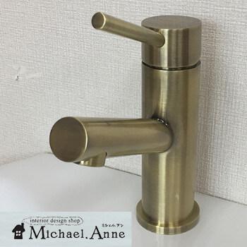 混合水栓1穴タイプタワーシリーズ(アンティックブラス)【H-1LTS-AB】