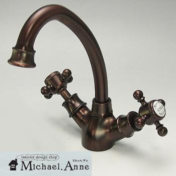 混合水栓1穴トールタイプアメイジア・ラバトリー(ブロンズ)【H-AmasiaLavatory-ORB】