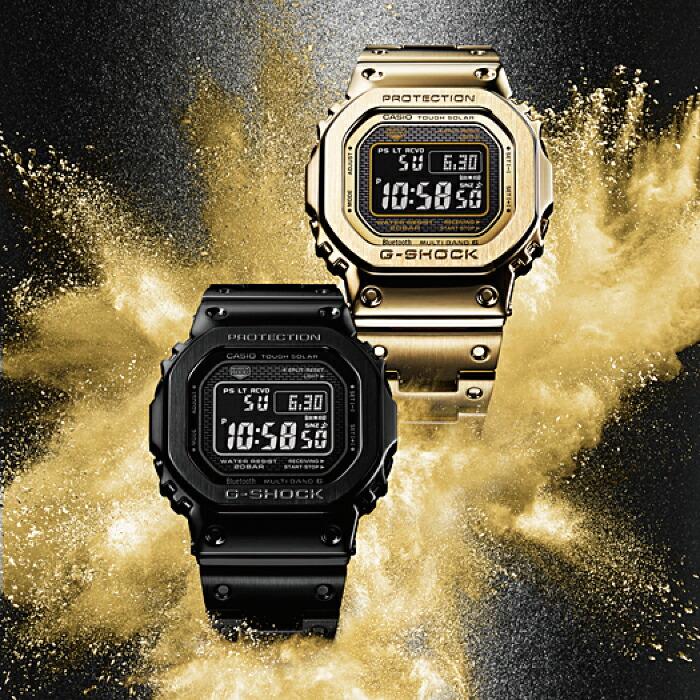 【P最大43倍&クーポン/お買い物マラソン】CASIO正規販売店 G-SHOCK ORIGIN GMW-B5000GD-9JF カシオGショック Bluetooth GPS電波ソーラーメンズ 腕時計 フルメタル
