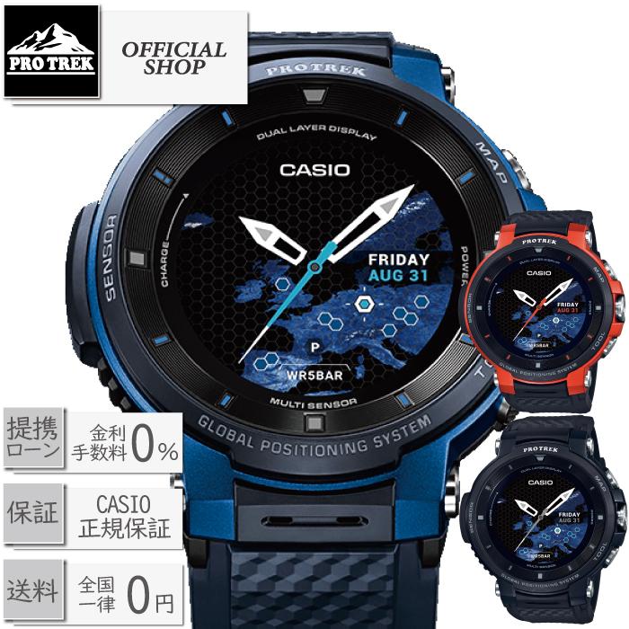 WSD-F30-BU/WSD-F30-RG/WSD-F30-BK/正規[CASIO PROTREK Smart プロトレックスマート 時計 メンズ 充電式 スポーツ ゴルフ トレッキング ランニング フィットネス]