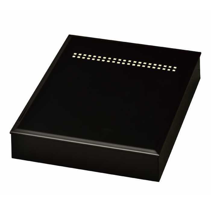 [20-3-10] 黒 A4版 書類入れ スクウェア