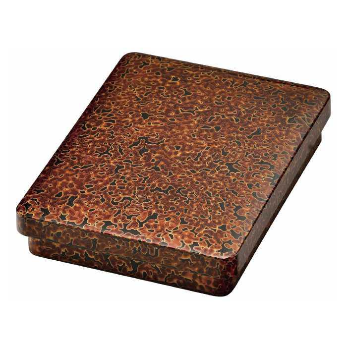 [20-12-3] 金虫喰漆 6.5巾 硯箱(漆・手塗)*