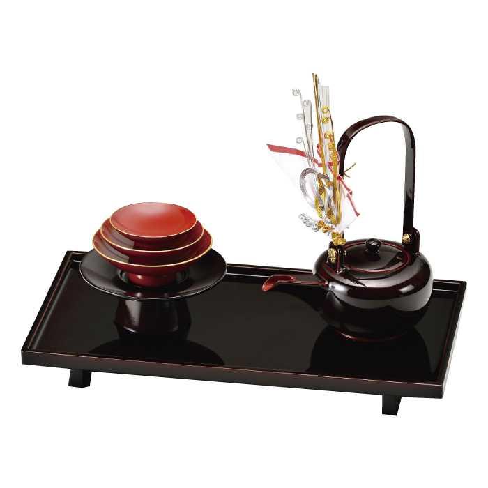 高価値 福島県会津地方に伝わる伝統工芸品です 20-78-2 溜 購入 11.5 漆 手塗 切立長角 屠蘇器