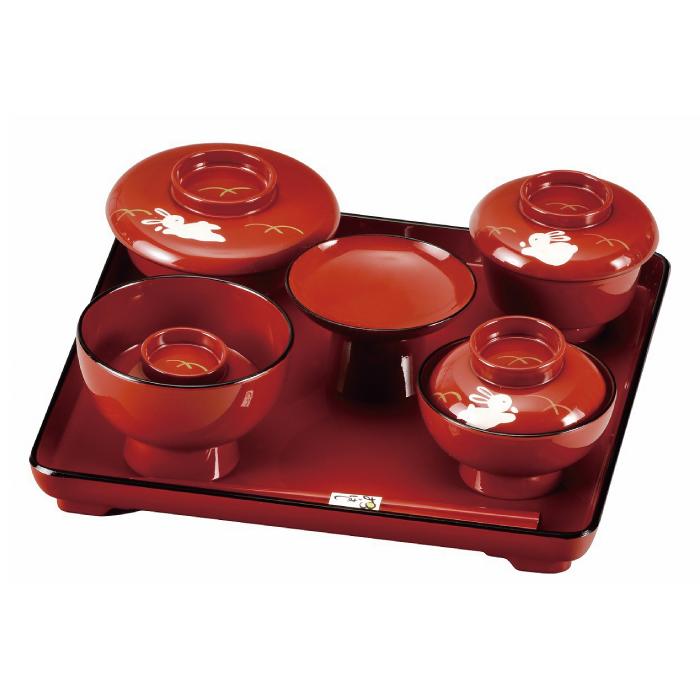 福島県会津地方に伝わる伝統工芸品です 20-89-10 定価の67%OFF 総朱 誕生日プレゼント 喰初セット 手描 うさぎ