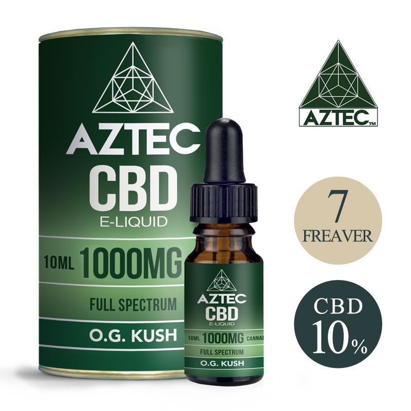 CBD リキッド 10% 1000mg フルスペクトラム Aztec アステカ 高濃度 高純度 E-Liquid 電子タバコ vape オーガニック CBD ヘンプ アントラージュ カンナビジオール カンナビノイド