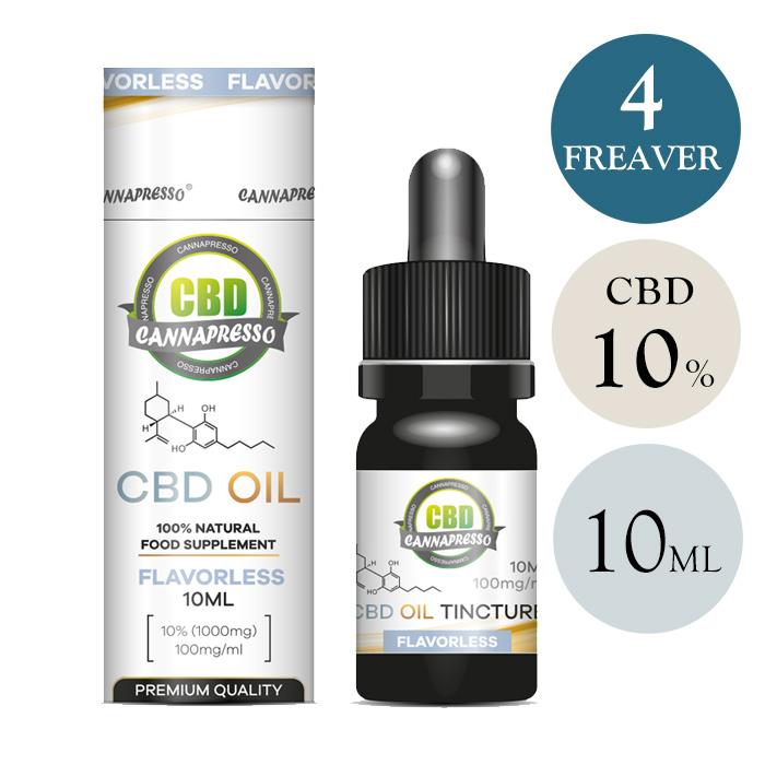 CBD オイル CBD 含有率 10% 1000mg 内容量 10ml カンナプレッソ MCT オイル cbd oil ヘンプ 高濃度 高純度 cbd oil cbd リキッド カンナビジオール