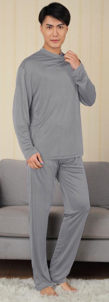 2018セール シンプルなデザインが魅力 (メンズ)。シルク100%の紳士パジャマ (メンズ) 杢グレー 杢グレー, 8-Aug:73bfb89a --- supercanaltv.zonalivresh.dominiotemporario.com