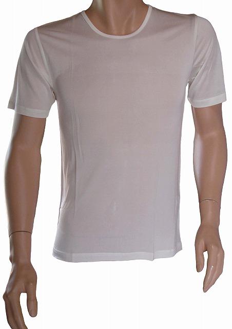 《3枚組 送料無料》シルク100% シルクニット紳士用半袖インナー  ホワイト【絹100%】【ネコポス対応可】