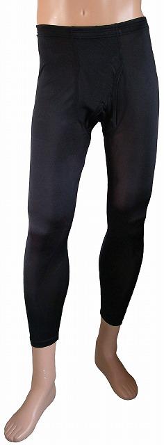 《2枚組》送料無料 シルク100% シルクニット紳士(メンズ)ロングパンツ(ももひき) ブラック【絹100%】【レギンス】【冷え取り】【黒】【ステテコ】【スパッツ】【保温】【ネコポス対応可】