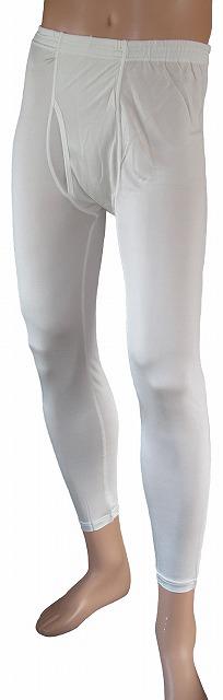 《2枚組》送料無料 シルク100% シルクニット紳士(メンズ)ロングパンツ(ももひき) ホワイト【絹100%】【レギンス】【ステテコ】【保温】【ネコポス対応可】