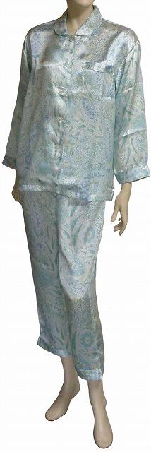 【シルク100%】 シルクサテン・パジャマ No.6  【シルク100%】【絹100%】【送料無料】