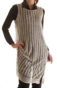 手編みシルクロングオーバードレス 2色