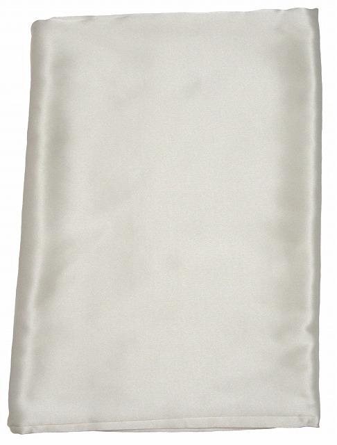 【2枚セット】【シルク100%】 純白のシルクサテン・掛け布団カバー 《ダブル》【シルク カバー】【絹】【シルク 100%】【送料込】【高級】【抗菌】