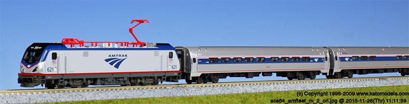 アムトラック ACS-64・アムフリートI 5両セット【KATO・10-710-2】「鉄道模型 Nゲージ カトー」