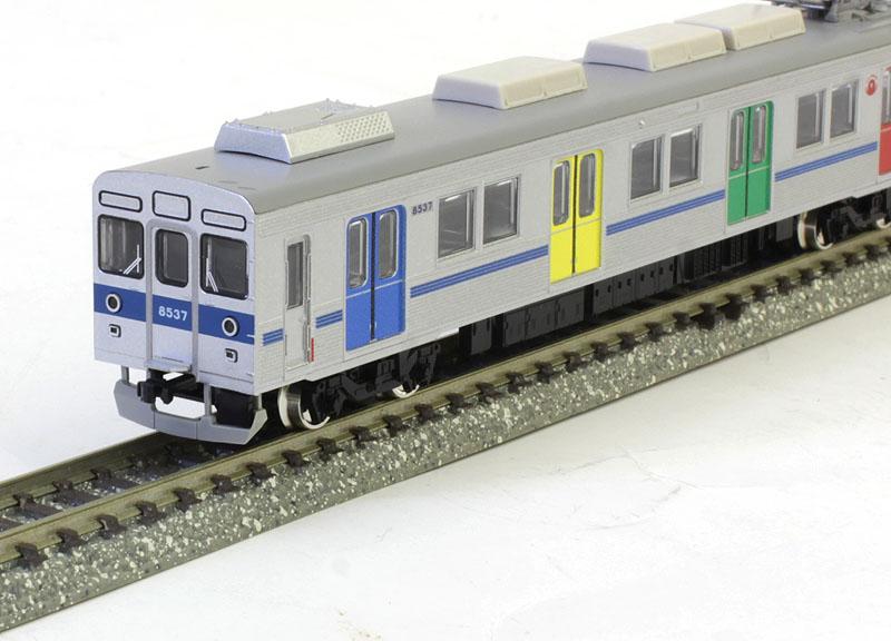 東急8500系(青帯・ドア装飾編成)基本6両編成セット(動力付き)【グリーンマックス・50617】「鉄道模型 Nゲージ」