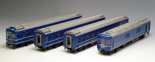 24系24形特急寝台客車 4両セット【TOMIX・HO-064】「鉄道模型 HOゲージ トミックス」
