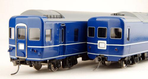 【真鍮製】オハネフ24 白帯車(完成品)【カツミ・KTM-82】「鉄道模型 HOゲージ 金属」