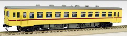 【真鍮製】国鉄キハ55-16~ バス窓(M)(準急色)【エンドウ・D431】「鉄道模型 HOゲージ 金属」