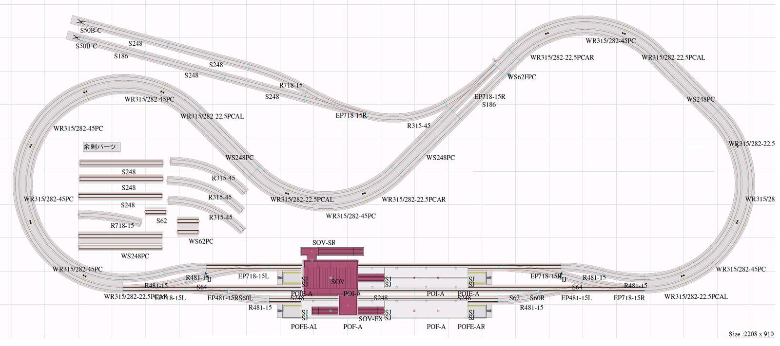 プラン01-2 私鉄本線すれ違いプラン【KATO・Plan01-2】「鉄道模型 Nゲージ カトー」