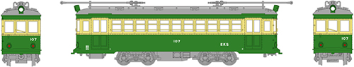 """江ノ島電鉄 100形""""107号車""""(トロリーポール仕様)【MODEMO・HO・HT4】「鉄道模型 HOゲージ カトー」"""