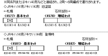JRキハ143形/キサハ144形 登場時 増結3両編成セット(動力無し) 【グリーンマックス・4582】「鉄道模型 Nゲージ GREENMAX」