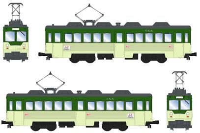 東急たまでんデハ150形 連結2人のり (2両セット)【MODEMO・NT146】「鉄道模型 Nゲージ モデモ」