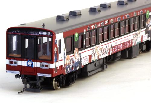 鹿島臨海鉄道6018形(2号車)(ガルパン塗装・モーター無し) 【エンドウ・D073】「鉄道模型 HOゲージ」