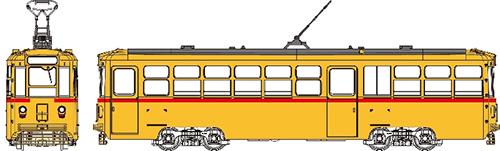 都電7500形[ツーマンタイプ]塗装済・行先等ステッカー・インレタ選択式 【トラムウェイ・TW-HO7500X】「鉄道模型 HOゲージ」