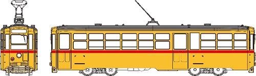 都都電8000形、塗装・印刷(8107番・1系統・品川駅行)済 【トラムウェイ・TW-HO8107】「鉄道模型 HOゲージ」