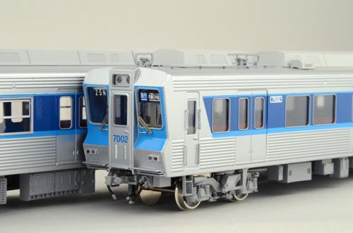【真鍮製】 北総鉄道7000形A 基本4両セット(固定窓) 【カツミ・KTM-212】「鉄道模型 HOゲージ 金属」