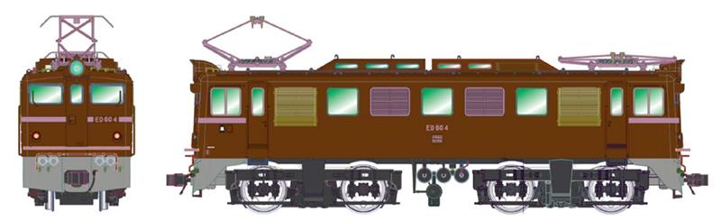 ED60-4・茶色・阪和線 【マイクロ・H-7-002】「鉄道模型 HOゲージ」