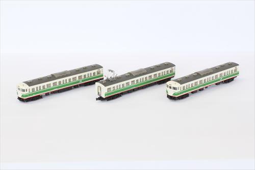 115系1000番代 旧長野色 3両セット【ロクハン・T011-1】「鉄道模型 Zゲージ ロクハン」