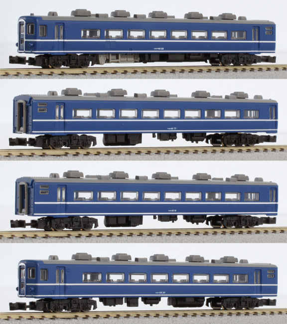 14系 基本4両セット 【ロクハン・T006-1】「鉄道模型 Zゲージ ロクハン」