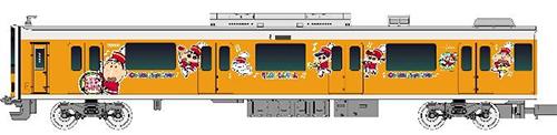 東武50050型(クレヨンしんちゃんラッピングトレイン・ボーちゃんデザイン)増結用中間車4両セット(動力無し)【グリーンマックス・50575】「鉄道模型 Nゲージ GREENMAX」