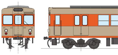 東武2000系・旧ツートンカラー 完成品 中間2両セット(3次車)【カツミ・KTM-388】「鉄道模型 HOゲージ」
