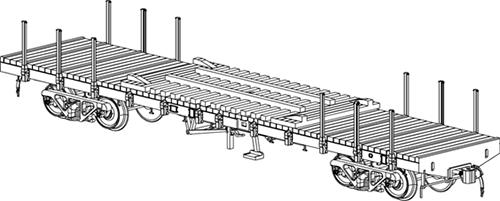 国鉄チキ7000 特大貨物積載台付き(2両セット) 【トラムウェイ・TW-7000CC】「鉄道模型 HOゲージ 貨車」